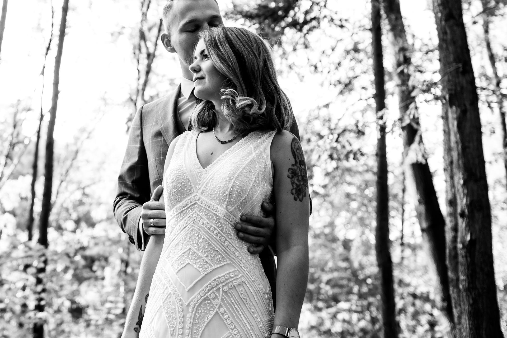 Shooting Brautpaar schwarz/weiß
