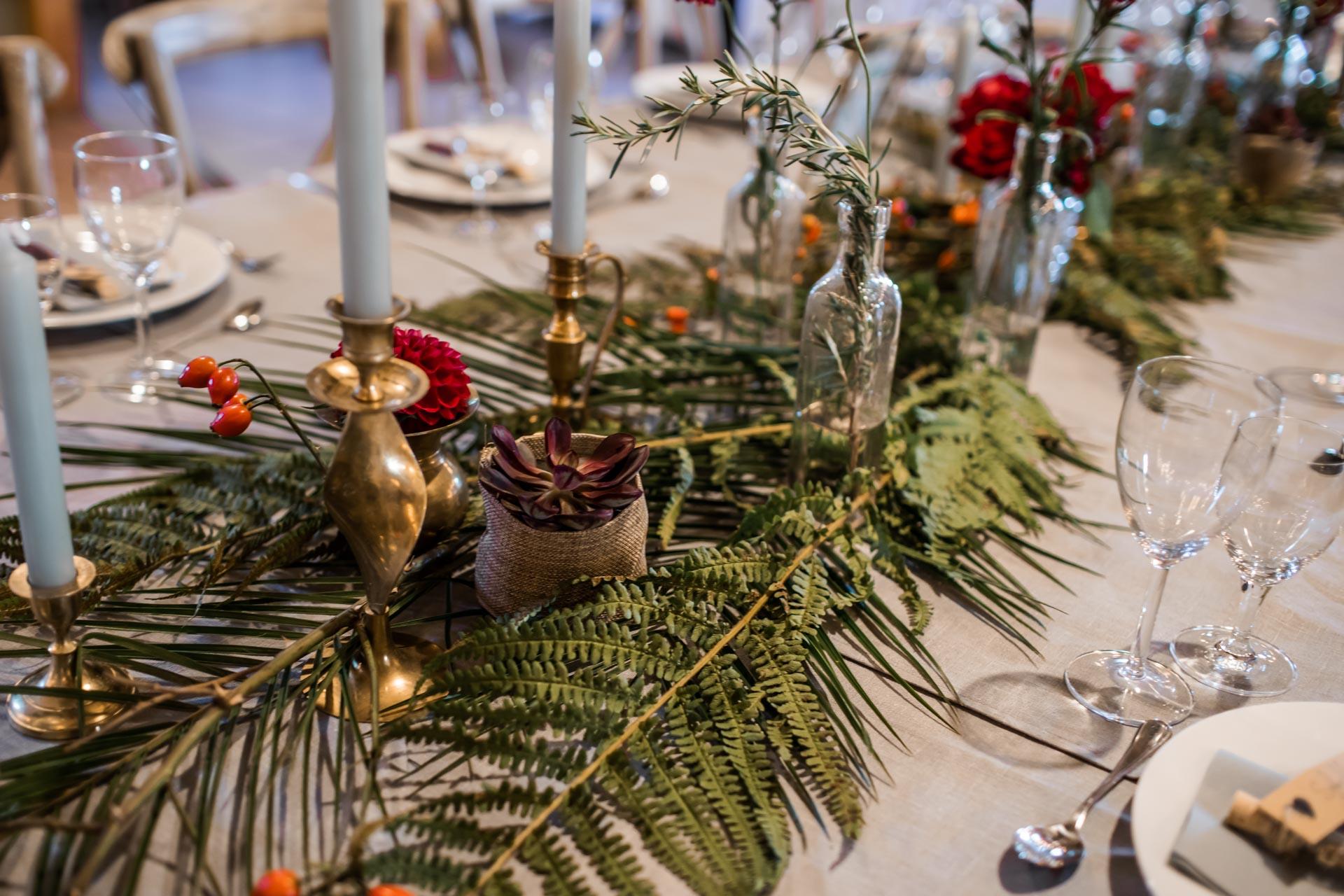 Boho-Hochzeit Dekoration Farn