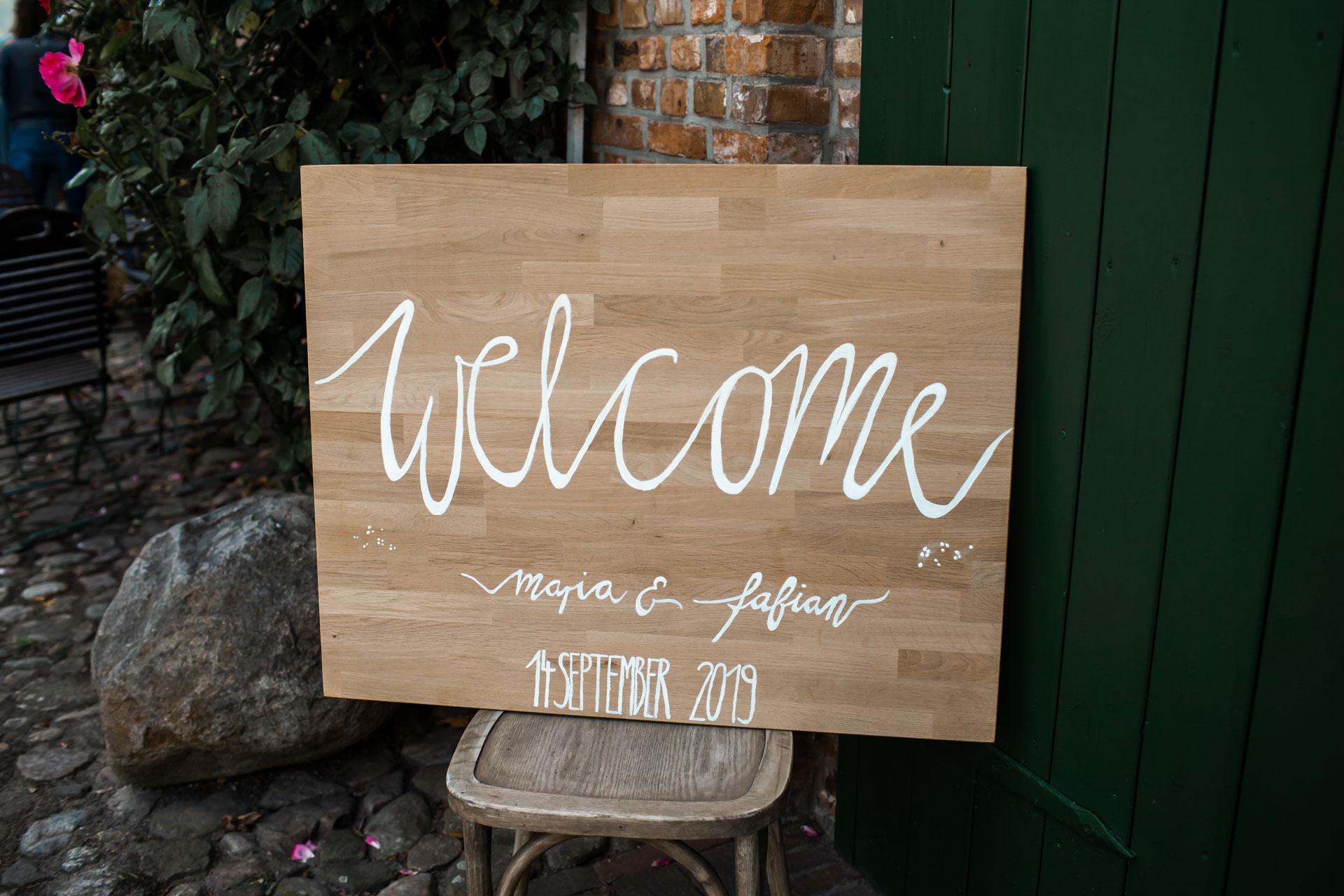 Welcome Hochzeitsschild Holz